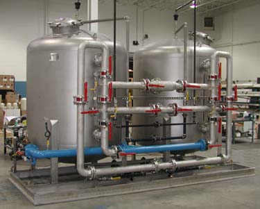 72 Inch Industrial Water Carbon Twin Filter System